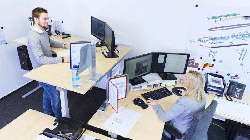 ergonomische Büroarbeitsplätze