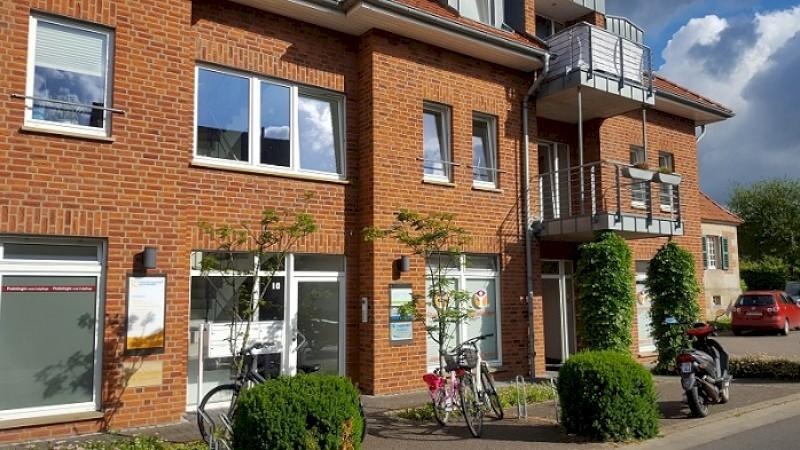 Außenbereich unseres Büros am Gelsbach 10