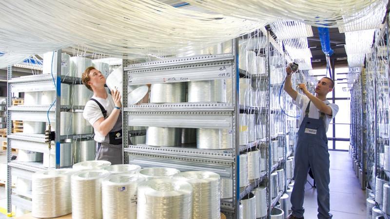 Ein Blick in die SAERTEX-Produktion